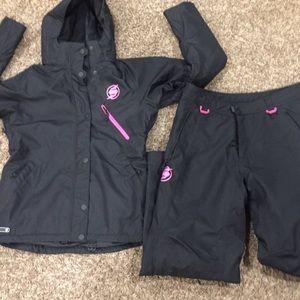 Sled necks snowmobile pants & jacket set